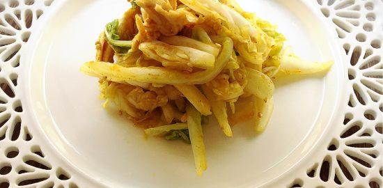 エッセンシア酵素 白菜とささみのカレー胡麻サラダ