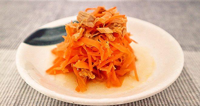 レンジだけでできる超簡単レシピ・にんじんしりしり エッセンシア酵素レシピ