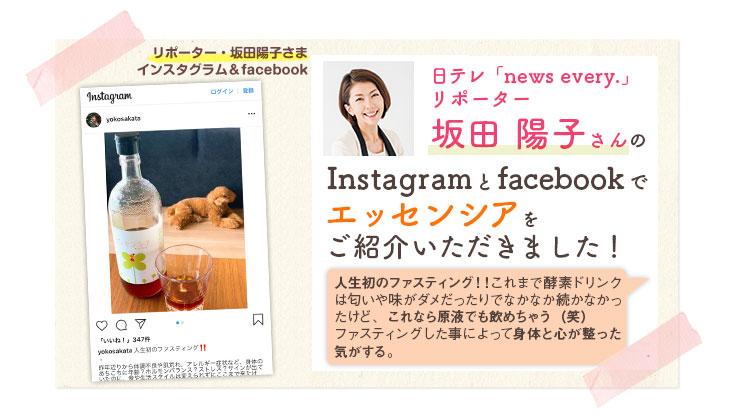 坂田陽子さんインスタグラムで紹介!