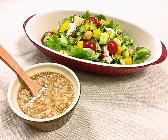 エッセンシア酵素ドリンクレシピ-お豆と彩り野菜のチョップドサラダ