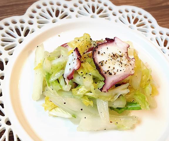 エッセンシア酵素ドリンクレシピ-白菜とタコのマリネ