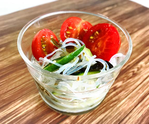 エッセンシア酵素ドリンクレシピ-春雨とわかめの中華風サラダ