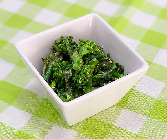 エッセンシア酵素ドリンクレシピ-菜の花の豆乳ごまマヨ和え
